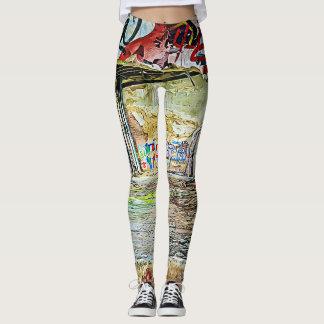Cool Street Art Graffiti Leggings