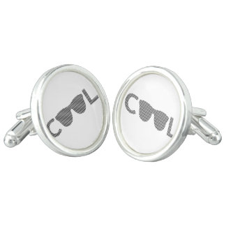 Cool - strips - black and white. cufflinks