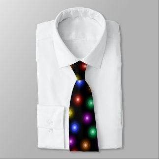 Cool Stylish Christmas Lights Pattern Illustration Tie