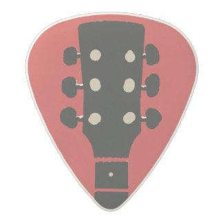 cool & stylish red rock acetal guitar pick