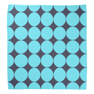 Cool Stylish Teal Blue Polka Dots Bandana