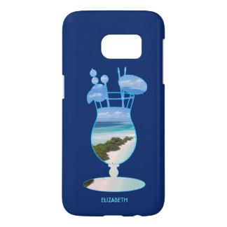 Cool Summer Islands Ocean Beach Palms And Sand Samsung Galaxy S7 Case