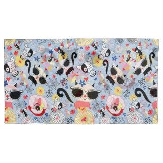 Cool Summer Kitty Pillowcase