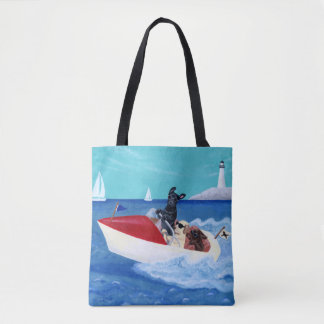 Cool Summer Labradors Painting Tote
