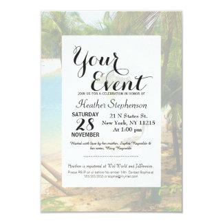 Cool Summery Anchor and Tropical Beach Scene Card