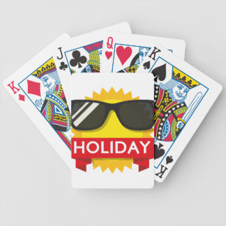 Cool sunglass sun bicycle playing cards