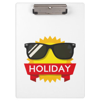 Cool sunglass sun clipboard