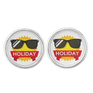 Cool sunglass sun cufflinks