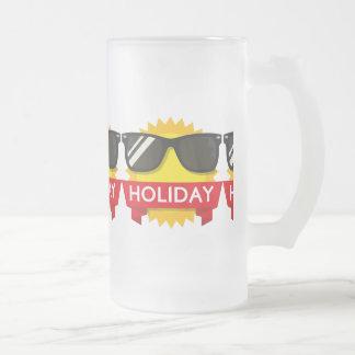 Cool sunglass sun frosted glass beer mug