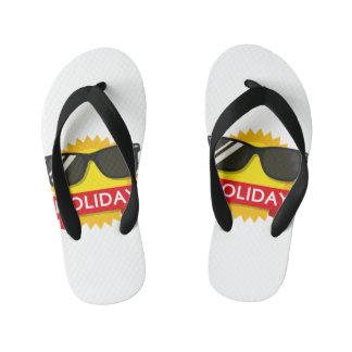 Cool sunglass sun kid's flip flops