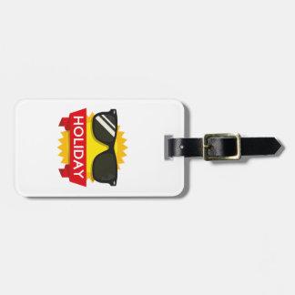 Cool sunglass sun luggage tag