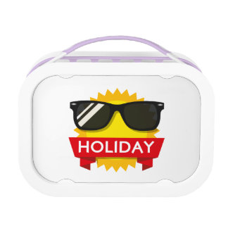 Cool sunglass sun lunch box