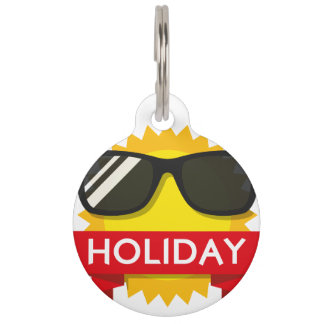 Cool sunglass sun pet ID tag