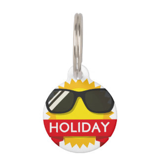Cool sunglass sun pet tag