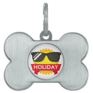 Cool sunglass sun pet tag