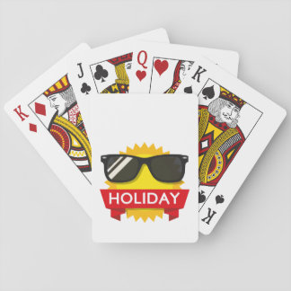 Cool sunglass sun playing cards