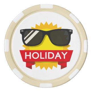Cool sunglass sun poker chips