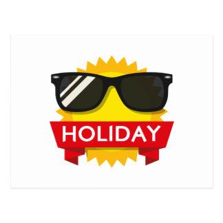 Cool sunglass sun postcard