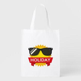 Cool sunglass sun reusable grocery bag