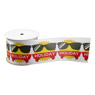Cool sunglass sun satin ribbon