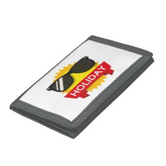 Cool sunglass sun tri-fold wallets