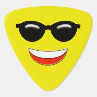 Cool Sunglasses Emoji Guitar Pick