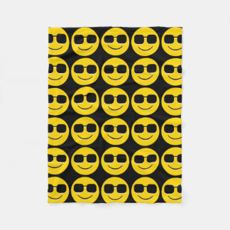 Cool Sunglasses Emoji Guy Fleece Blanket