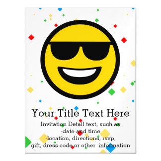 Cool Sunglasses Emoji Magnetic Card