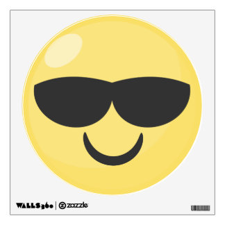 Cool Sunglasses Emoji Wall Decal