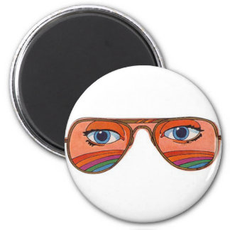 Cool Sunglasses Eyes 1 2 Inch Round Magnet
