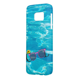 cool sunglasses on pool water samsung galaxy s7 case