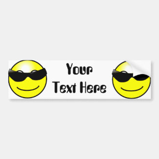 Cool Sunglasses Yellow Smiley Face Bumper Sticker