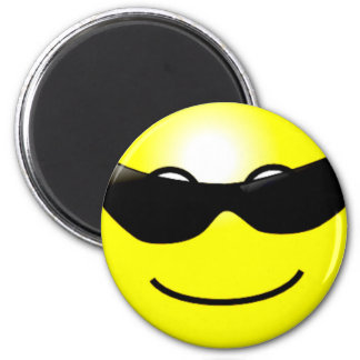 Cool Sunglasses Yellow Smiley Face Magnet