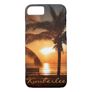 Cool Sunset on the Bench iPhone 8/7 Case
