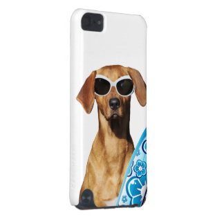 Cool surfer dog, Rhodesian Ridgeback in sunglasses iPod Touch (5th Generation) Cover
