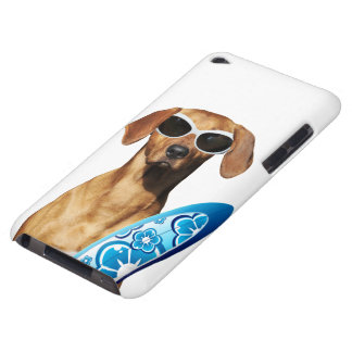 Cool surfer dog, Rhodesian Ridgeback in sunglasses iPod Touch Case-Mate Case