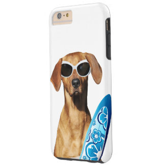 Cool surfer dog, Rhodesian Ridgeback in sunglasses Tough iPhone 6 Plus Case