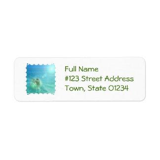 Cool Surfer Return Address Label