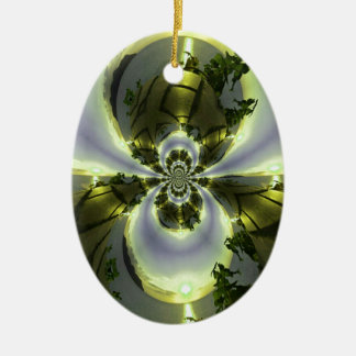 Cool Surreal Fantasy Abstract Ceramic Oval Ornament