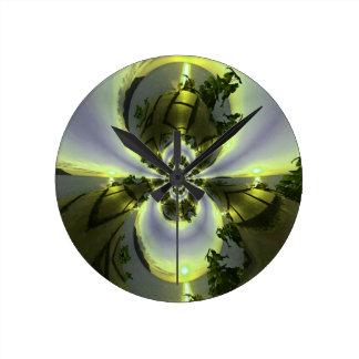 Cool Surreal Fantasy Abstract Round Clock