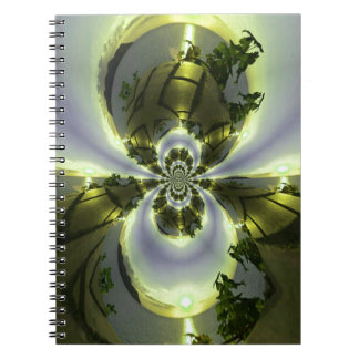 Cool Surreal Fantasy Abstract Spiral Notebooks