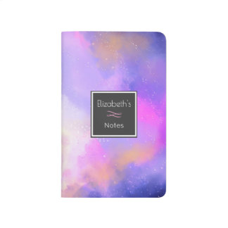 Cool Surreal Space Clouds Watercolor Design Journal
