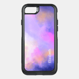 Cool Surreal Space Clouds Watercolor Design OtterBox Commuter iPhone 8/7 Case