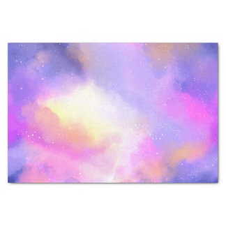 Cool Surreal Space Clouds Watercolor Design Tissue Paper