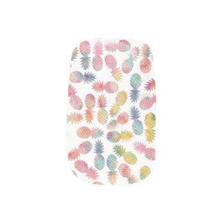"Cool ""sweet summer"" watercolor pineapples pattern minx nail art"