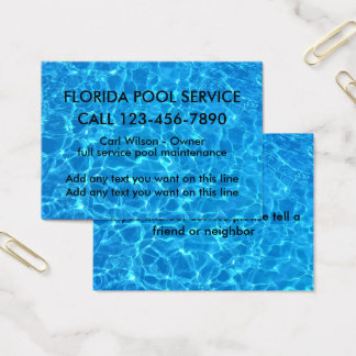 Cool Swimming Pool Service Business Card