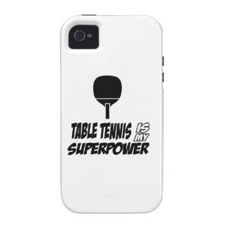 Cool table tennis designs iPhone 4 cases