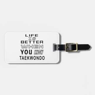 Cool Taekwondo Designs Luggage Tag