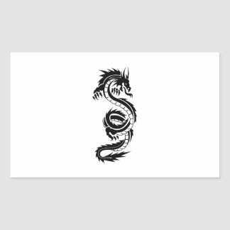 Cool tattoo style black dragon sticker