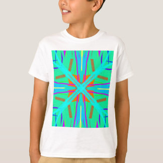 Cool Teal Aquamarine Contemporary Retro T-Shirt